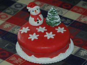 Torta Natale sulla Neve