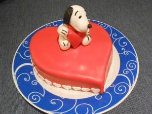 Torta Snoopy Innamorato