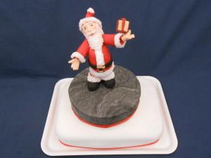 torta Babbo Natale con pacchetto
