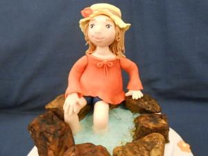 La bambina al laghetto torte decorate for Piani di studio 300 piedi quadrati