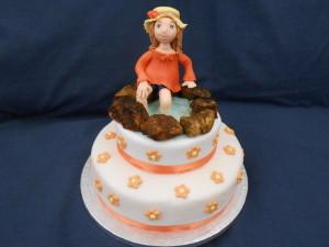 torta bambina laghetto 2